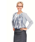 Warm smile given by business woman