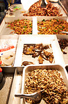 Assortment of fried insect dishes