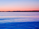 A calm lake and a gorgeous sunset