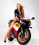 The hottest biker babe on two wheels!