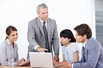 Advising his young team - Business Management