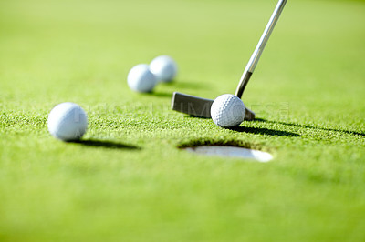 Buy stock photo Cropped shot of a golf course
