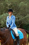 Horse riding is enjoyable and relaxing