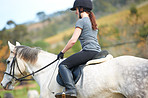 Horse riding is so relaxing