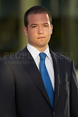 Buy stock photo Portrait of a handsome businessman