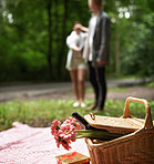 Romantic surprise in the forest