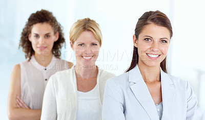 Buy stock photo A team of corporate women