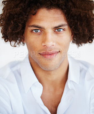 Buy stock photo Portrait of a handsome young man