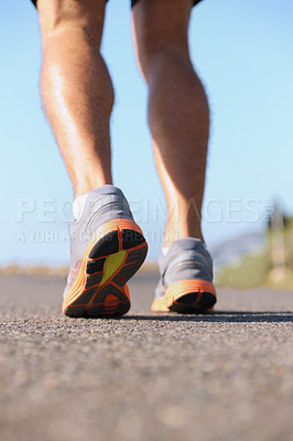 Buy stock photo Cropped image of a joggers legs