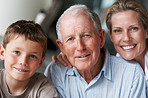 Generations - Old man with daughter and grandson
