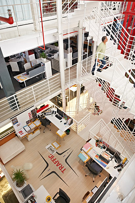 Buy stock photo A modern office with contemporary architecture