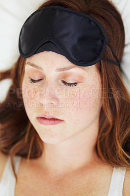 Buy stock photo A beautiful young woman sleeping peacefully