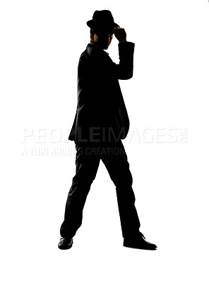 Buy stock photo Portrait of a handsome young standing against white background