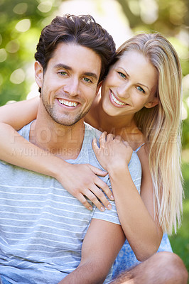 Buy stock photo Cropped shot of an affectionate young couple
