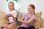 Gaming with her sister