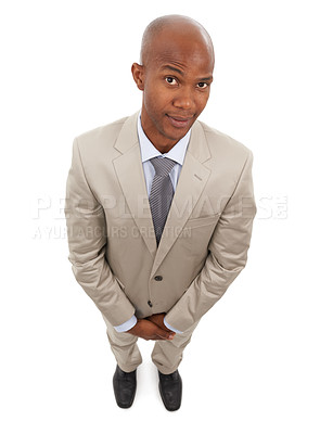 Buy stock photo A confident businessman looking at the camera