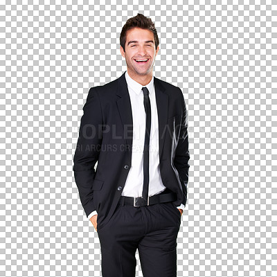 Buy stock photo A handsome young man in a stylish suit