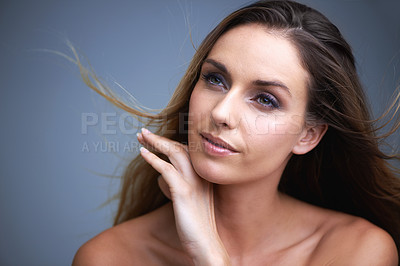 Buy stock photo Beauty shot of a young woman