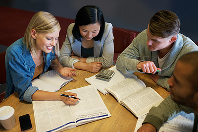 Buy stock photo Young people studying in the library