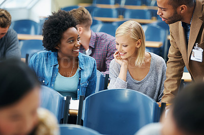 Buy stock photo A gorgeous young student in the lecture hall