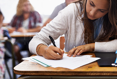 Buy stock photo students in a university classroom