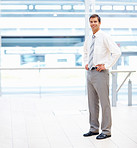 Full length: Image of a young business man posing