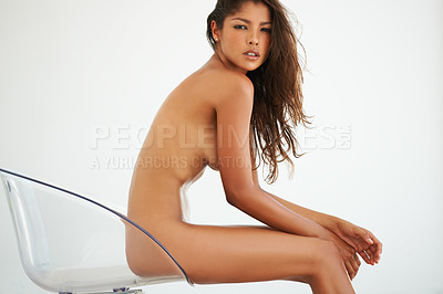 Buy stock photo Shot of a beautiful naked woman
