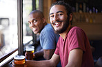 A good laugh over a good beer