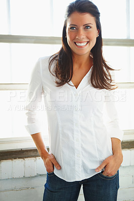Buy stock photo Portrait of a gorgeous young woman posing