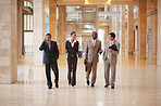 Group of business people walking together