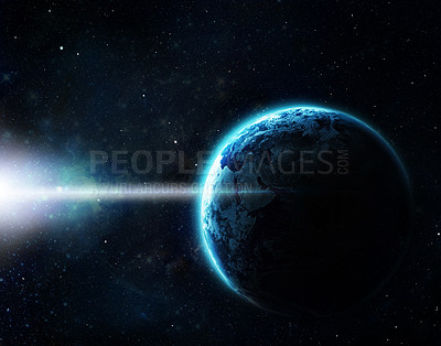 Buy stock photo Cropped shot of a space image from NASA