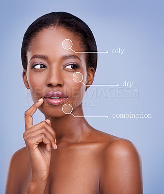 Buy stock photo Closeup beauty shot the skintones of women