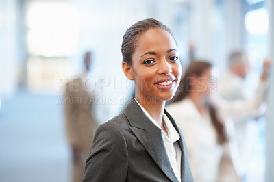 Buy stock photo Portrait of an attractive African American business woman