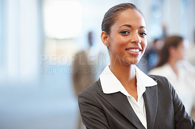 Buy stock photo Portrait of a charming African American business woman