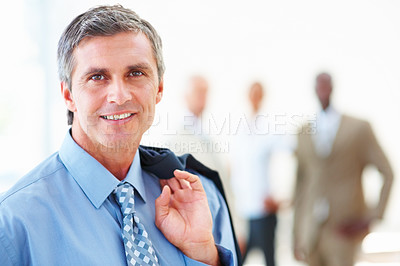 Buy stock photo Portrait of a happy professional business man