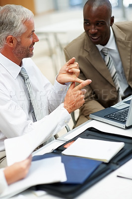Buy stock photo Portrait of a group of business people working together at a meeting