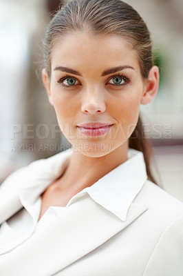 Buy stock photo Closeup of a charming successful business woman