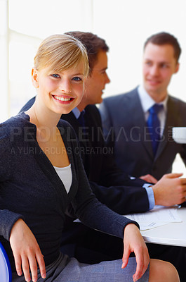 Buy stock photo Portait of a group of corporate businesspeople