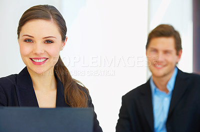 Buy stock photo I like my job!