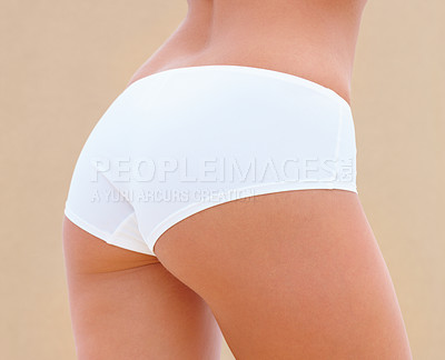 Buy stock photo Closeup of back and ass of a beautiful woman