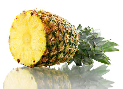 Buy stock photo Shoot of an isolated pineapple