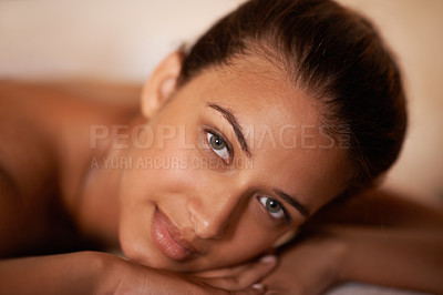 Buy stock photo Cropped shot of a woman in a day spa