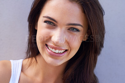 Buy stock photo Studio portrait of a beautiful young brunette