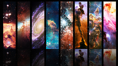 Buy stock photo Shot of an array of varying astronomical phenomena- ALL design on this image is created from scratch by Yuri Arcurs'  team of professionals for this particular photo shoot