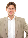 Cheerful young businessman