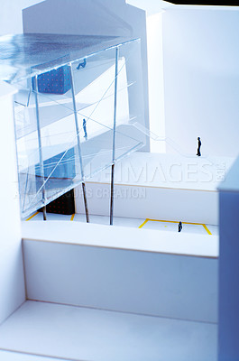 Buy stock photo This is a still picture of an genuine model, made and used by architects.