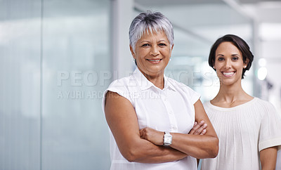 Buy stock photo Shot of businesspeople working in the office