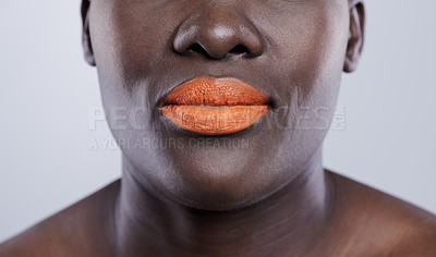 Buy stock photo Studio shot of a beautiful african woman against a grey background