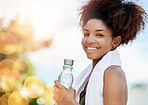 Drink water to replace the fluids you lose while sweating