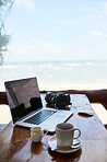 Blogging at the beach